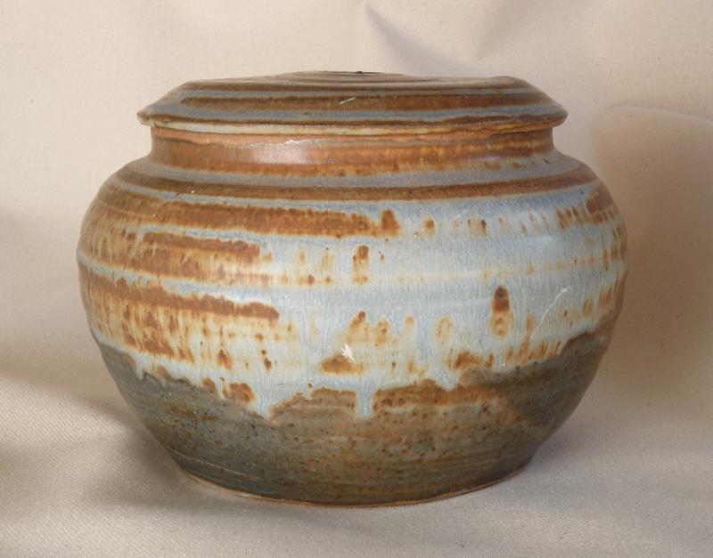 Stubby Lidded Vase