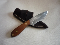 Damascus Knife and Sheath
